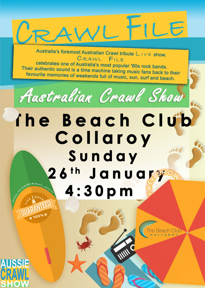 COLLAROY BEACH CLUB Sunday, 26 Jan 2020  4.30pm