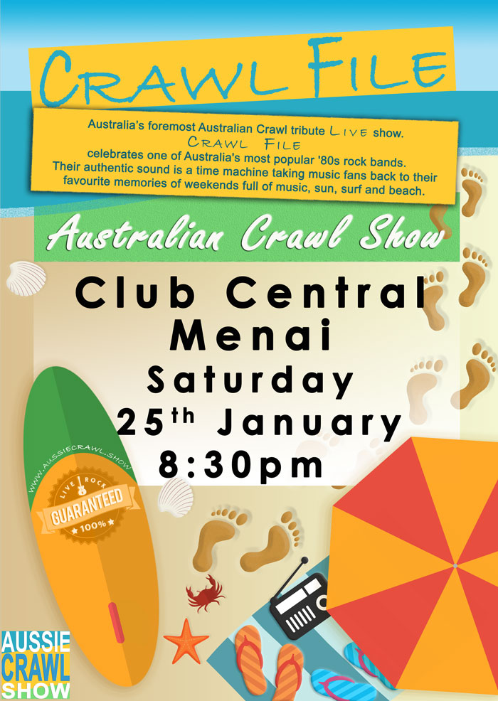 CLUB CENTRAL MENAI Saturday, 25 Jan 2020 8.30pm